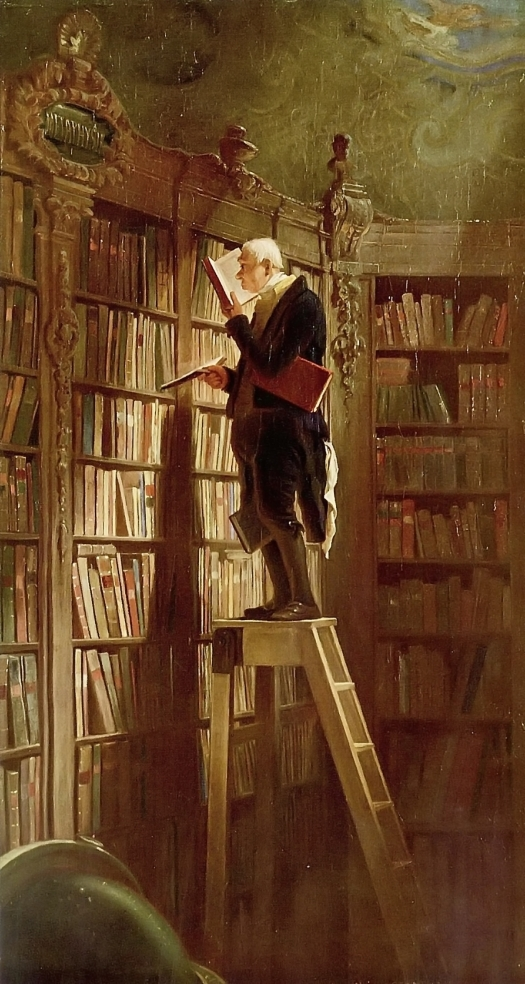 """The Bookworm"" by Carl SpitzwegPhoto by John McNab on Flickr"