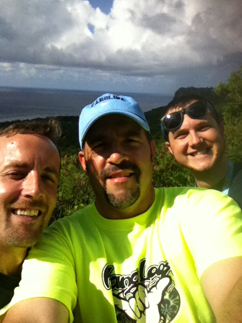 Overlooking the beaches of Guam with friends