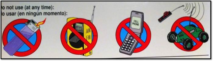 Do not use on flights